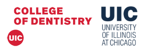 Logo University of Illinois at Chicago UIC College of Dentistry